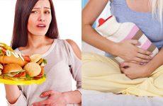 Нудота та біль внизу живота у жінок, чоловіків