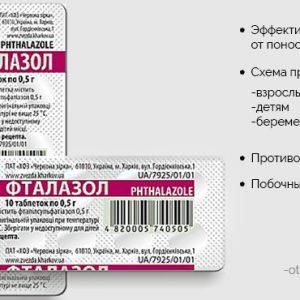 Фталазол від проносу у дорослих: як приймати, пити таблетки