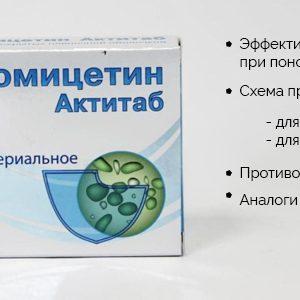 Левоміцетин від проносу, левоміцетин актитаб при діареї дітям і дорослим
