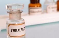 Отруєння формаліном (формальдегідом): лікування симптоми і наслідки