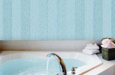 Обробка ванної кімнати рідкими шпалерами