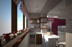 Перепланування кухні з лоджією