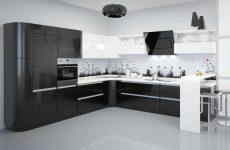 Чорно-білий дизайн кухні: строгий мінімалізм і практичність
