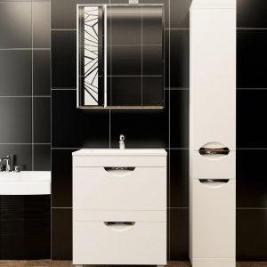 Дзеркальні шафки в інтер'єрі ванної кімнати