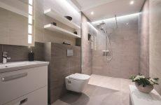 Дизайн ванної кімнати в світлих пастельних тонах