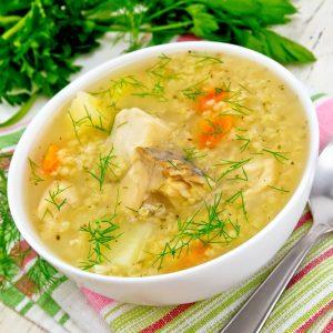 Кращі рецепти супу з свіжомороженої скумбрії з пшоном