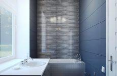 Дизайн ванної кімнати з вузькою ванної