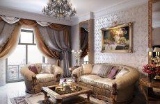 Дизайн вітальні в неокласичному стилі