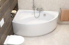 Кутові моделі ванн для маленьких кімнат