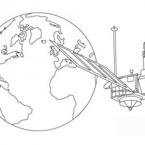 Розмальовка космос і планети для дітей