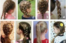 Зачіски для дівчаток на довге волосся: покроково з фото і відео