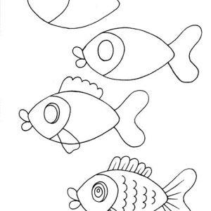 Як намалювати рибу олівцем