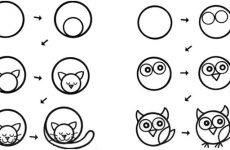 Малюємо тварин поетапно для дітей