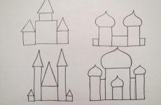 Малюнок замку олівцем для дітей