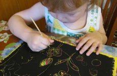 Граттаж – техніка малювання для дітей