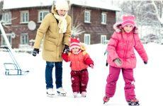 Правила поведінки на льоду для школярів в картинках