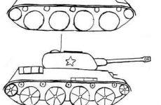 Малюнок танка олівцем для дітей