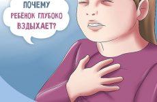 Дитина часто зітхає ніби не вистачає повітря