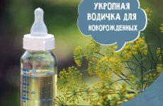 Кропова водичка для новонароджених: інструкція по застосуванню і приготування