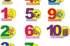 Картинки з цифрами для дитячого садка: завантажити безкоштовно