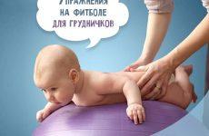 Вправи на фітболі для грудничокв: відео + інструкції