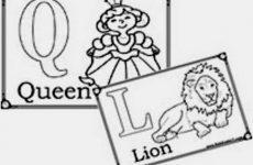 Англійська абетка – розмальовка для дітей 2 клас