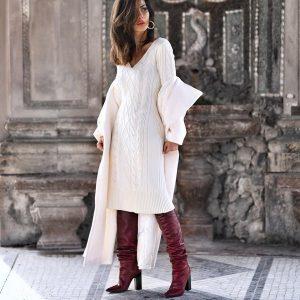 Модні трикотажні сукні 2018-2019 року: фото, новинки в'язаних суконь, тенденції