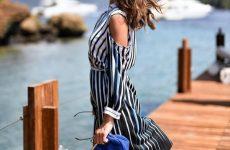 Модний тренд 2019-2020: ефектні плаття в смужку