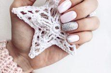 Чарівний зимовий дизайн нігтів 2018-2019: фото-новинки