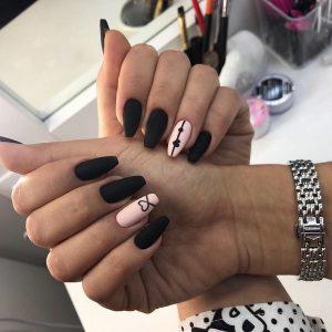 Модні нігті чорним лаком 2019-2020 – топ новинок, трендів та тенденцій чорного манікюру